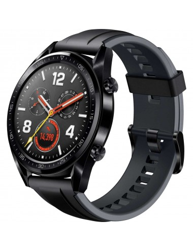 Acc. Bracelet Huawei Watch GT black leather band