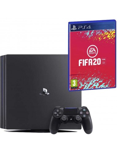 Console Playstation 4 Pro 1TB black includes FIFA 20
