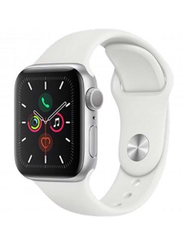 Acc. Bracelet Apple Watch Series 5 32GB silver Alu case 44mm white sport band