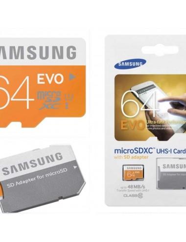 Acc. MemoryCard microSD Samsung Class 10 64GB