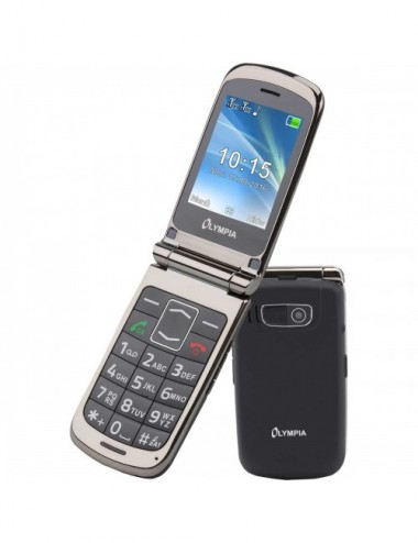 Olympia Style Plus 2G flip phone blk